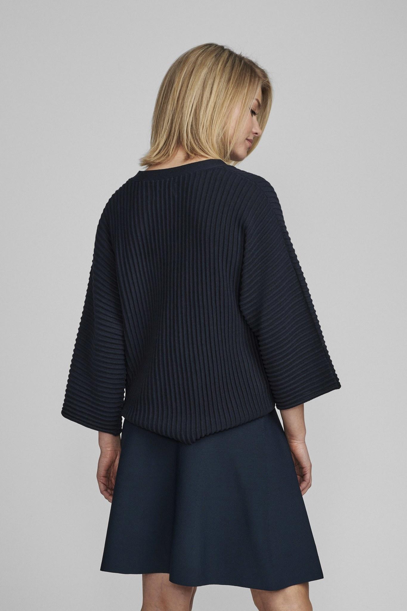 Nümph Irmelin V-neck pullover - NOOS - Donkerblauw