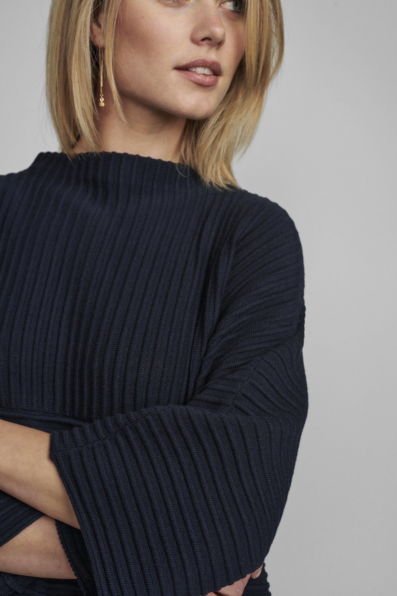 Nümph Irmelin O-neck pullover - NOOS - Donkerblauw