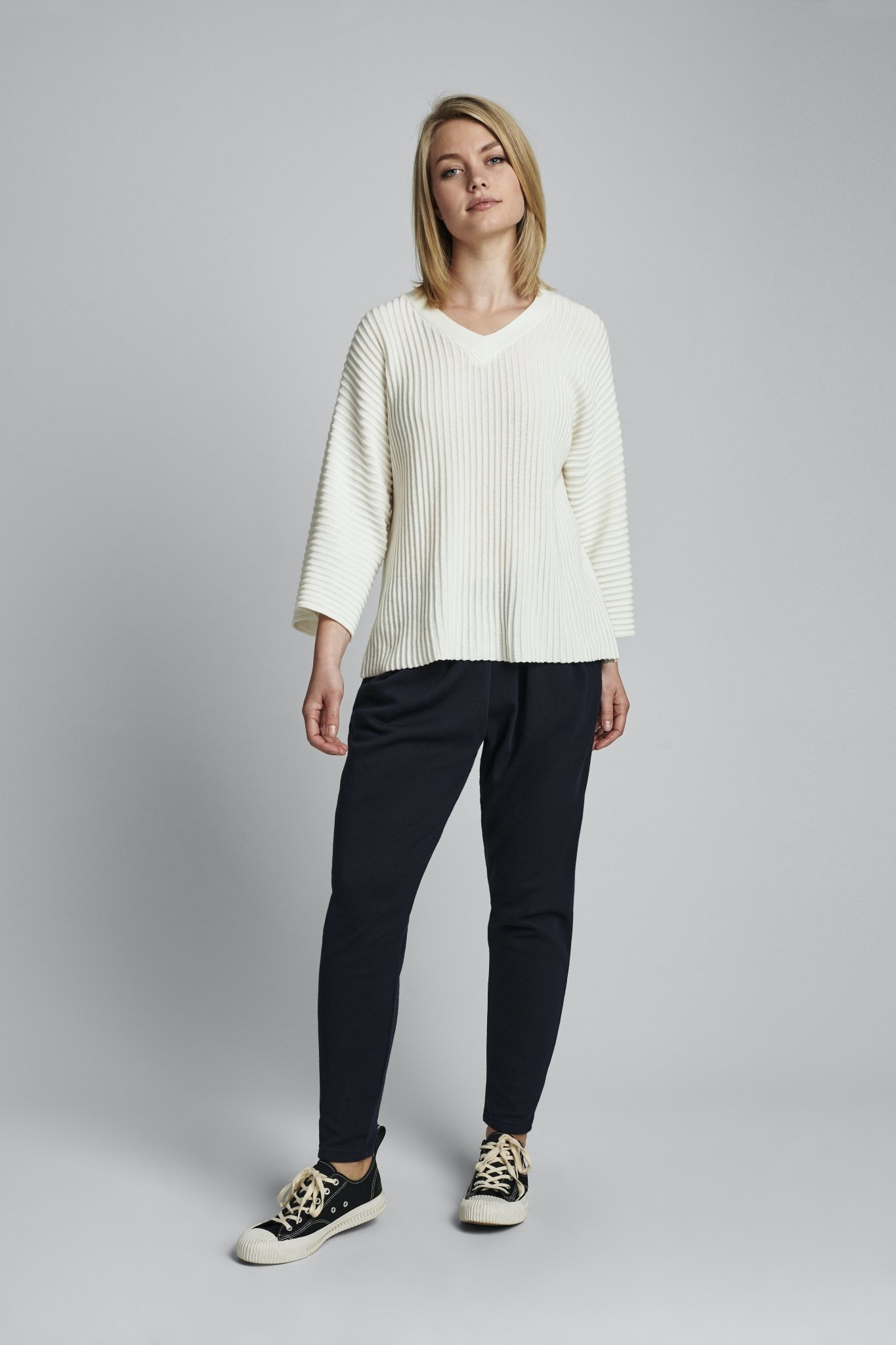 Nümph Irmelin V-neck Pullover - NOOS - Wit