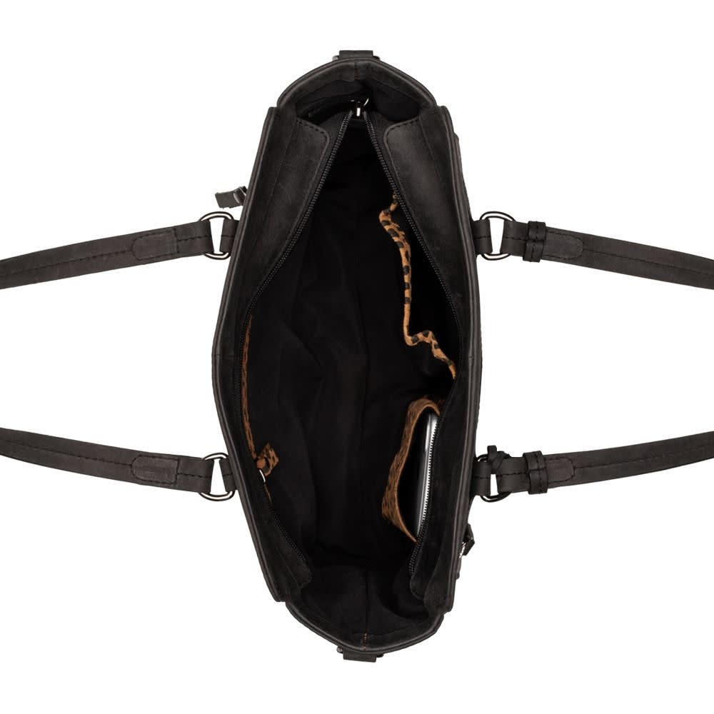 Burkely Croco Cody - Handbag S - Zwart