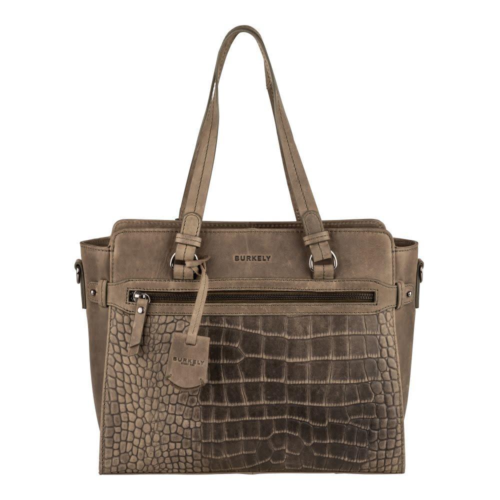 Burkely Crocy Cody - Handbag S - Dark Green