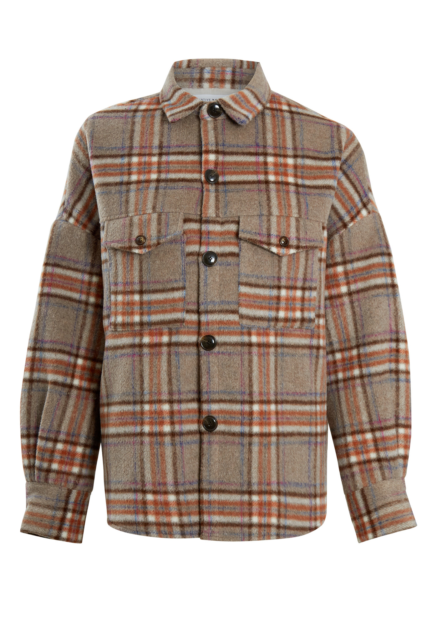 Native Youth Dominica Wool Check Shacket