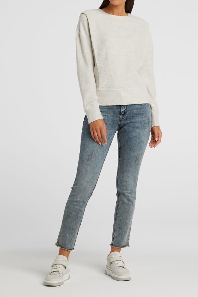 YAYA Women Sweater with shoulder pleat