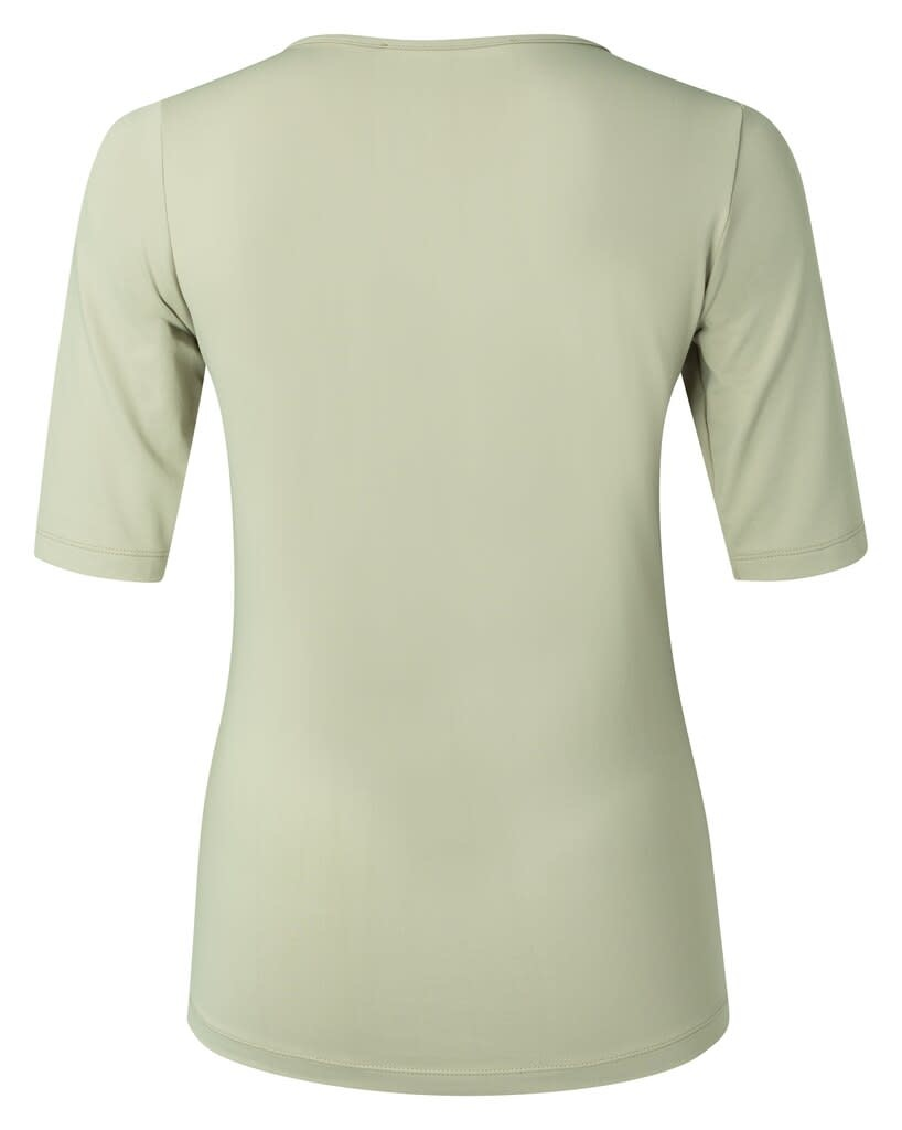 YAYA Women Round V-neck top