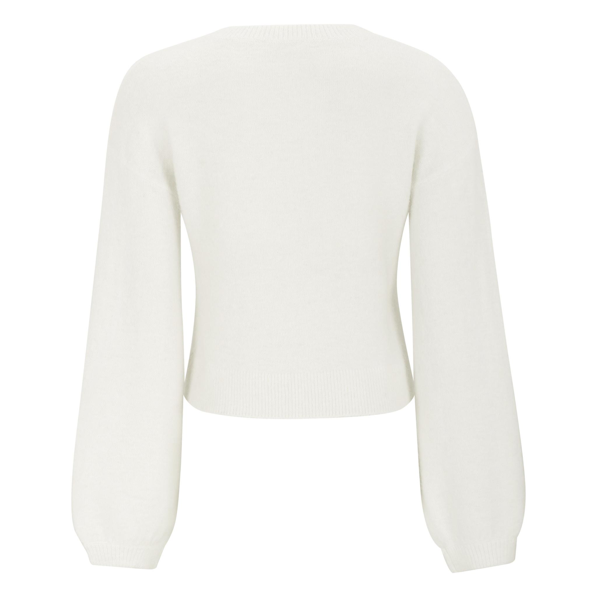 Soft Rebels Jessica LS O-neck Short Knit - Wit