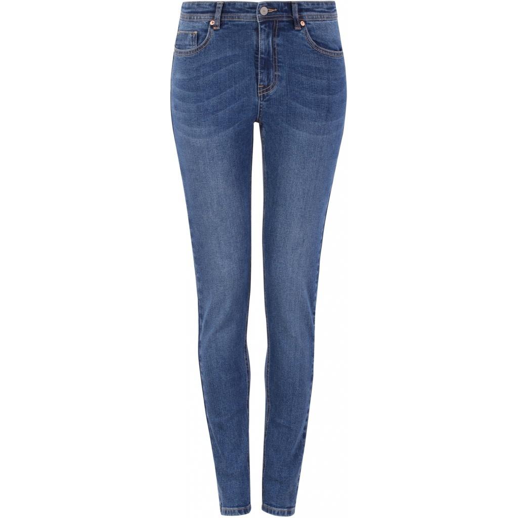 Soft Rebels Mid Rise Slim Jeans Blue