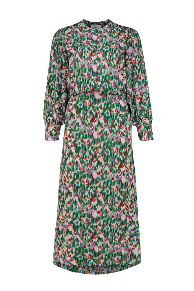 CKS Rilly Multigreen Dress Long