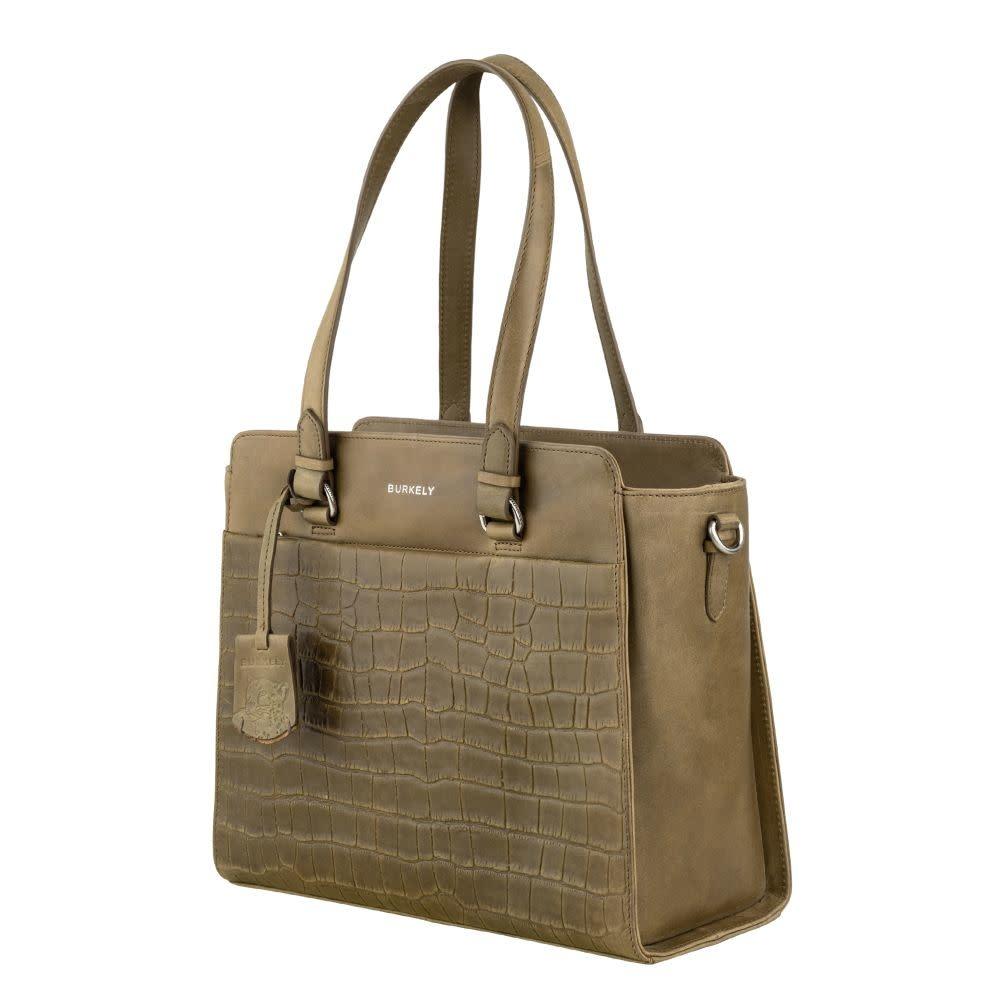 Burkely Croco Caia - Handbag S - Groen