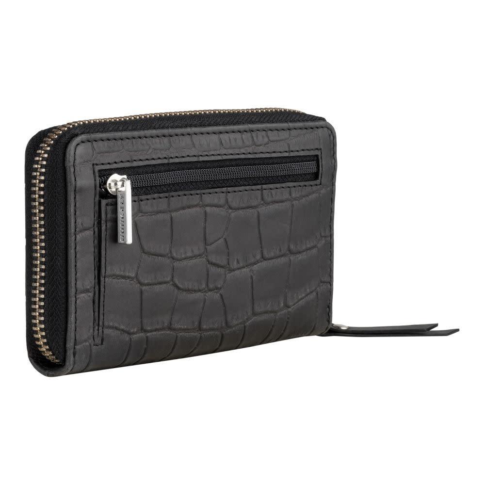 Burkely Croco Caia - Wallet M - Zwart