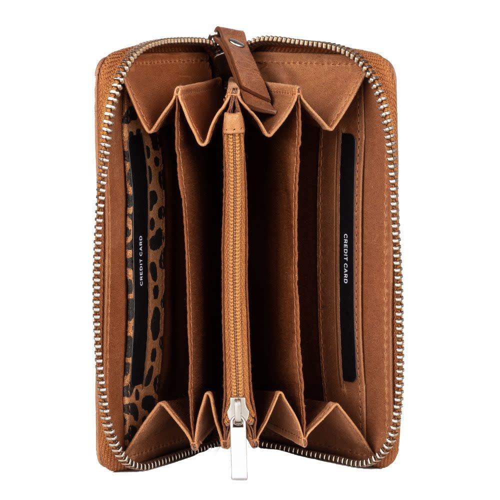 Burkely Croco Caia - Wallet M - Cognac