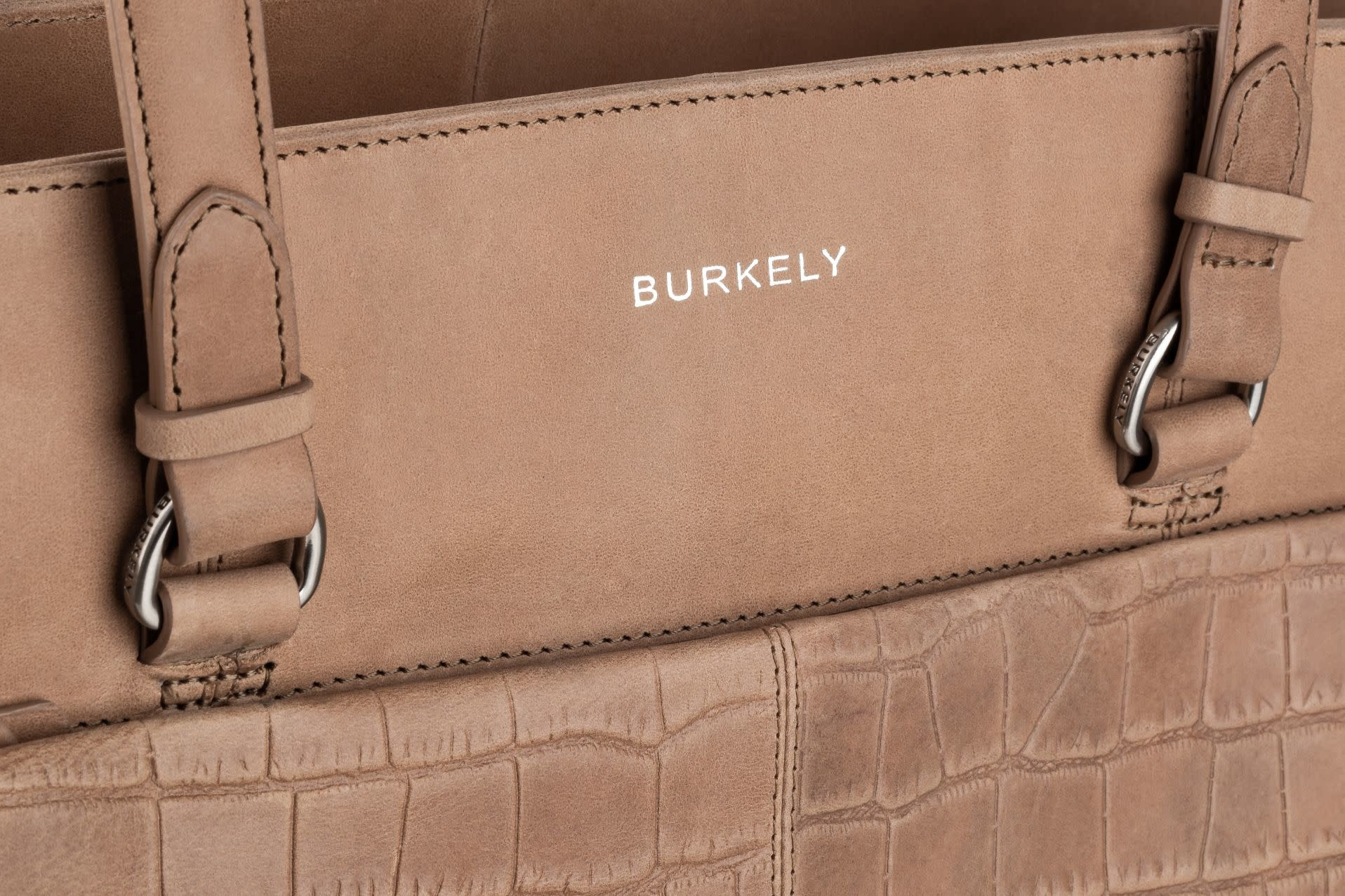 Burkely Croco Caia - Wallet M - Taupe