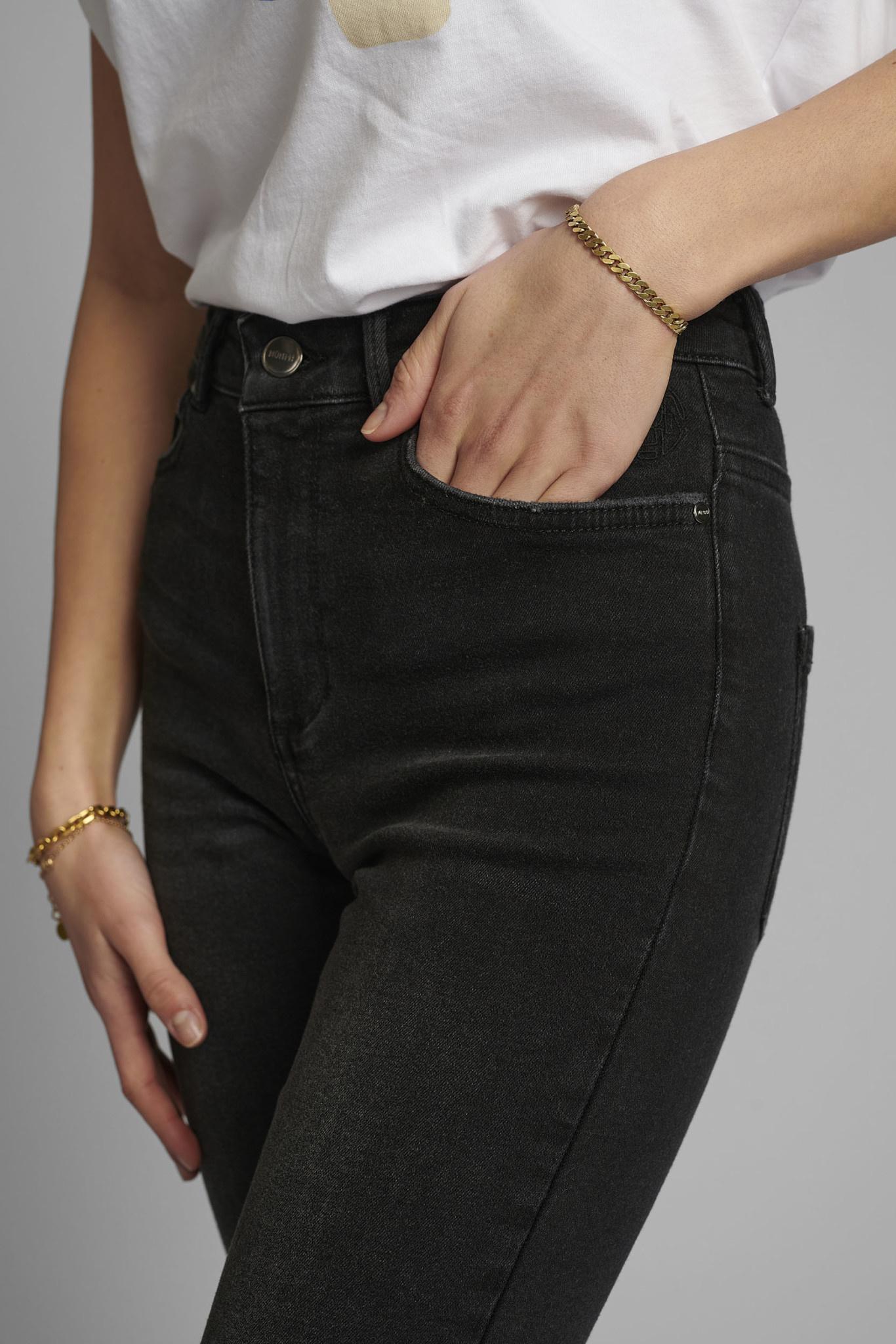 Nümph Canyon Jeans - Donkergrijs/zwart