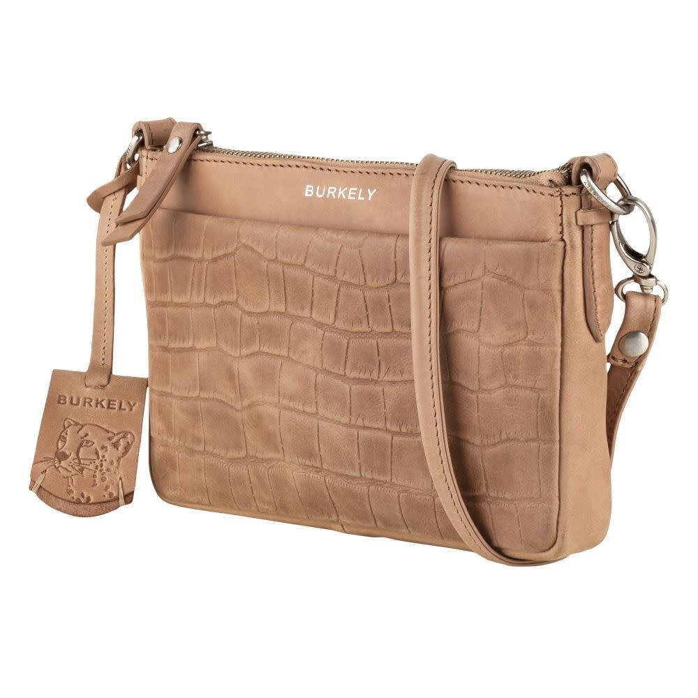 Burkely Croco Caia - Crossover Clutch M - Taupe