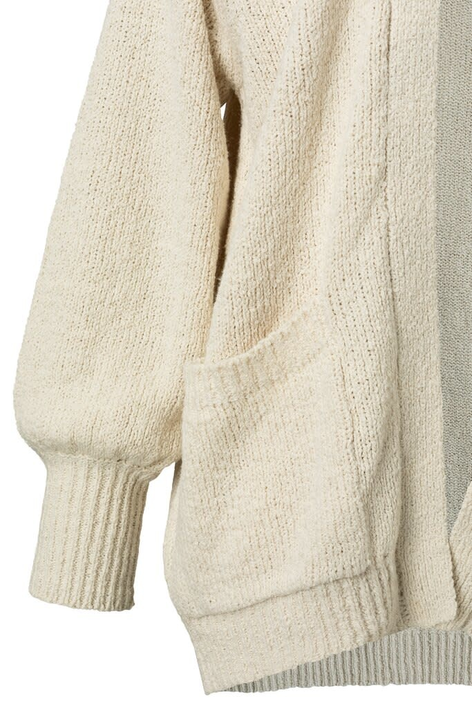 YAYA Women Slub yarn cardigan - Ecru/Wit