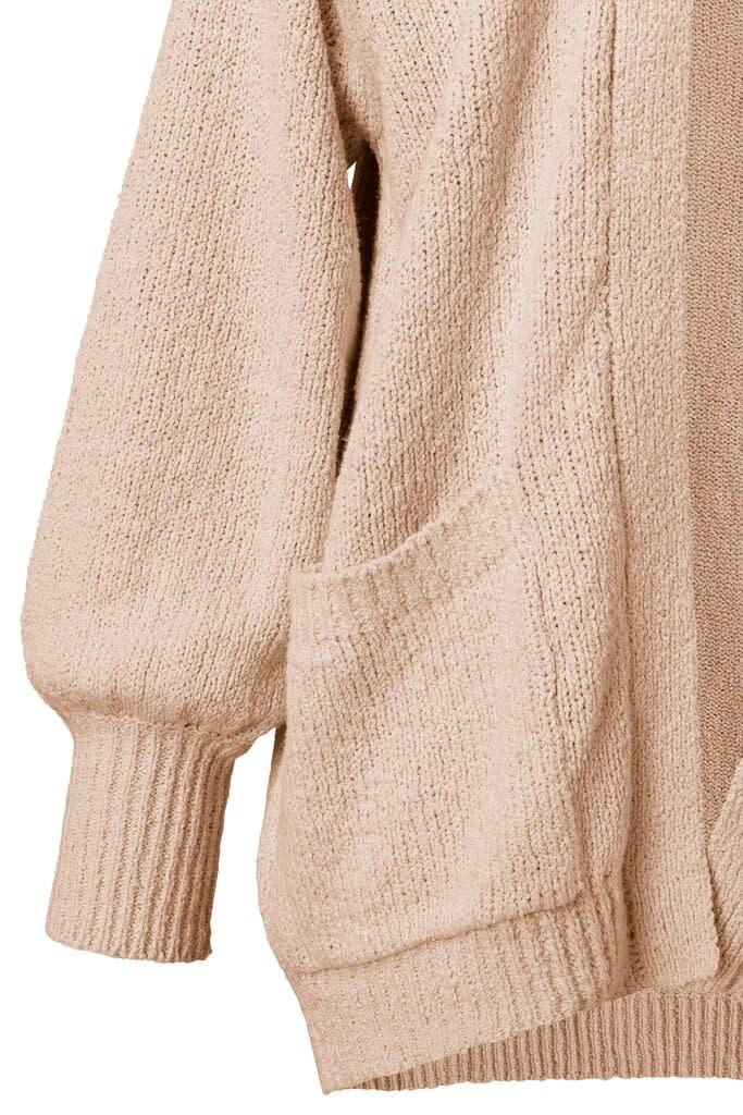 YAYA Women Slub yarn cardigan - Rose