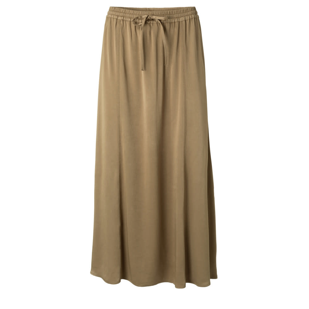 YAYA Women Satin Skirt elastic waist - beige