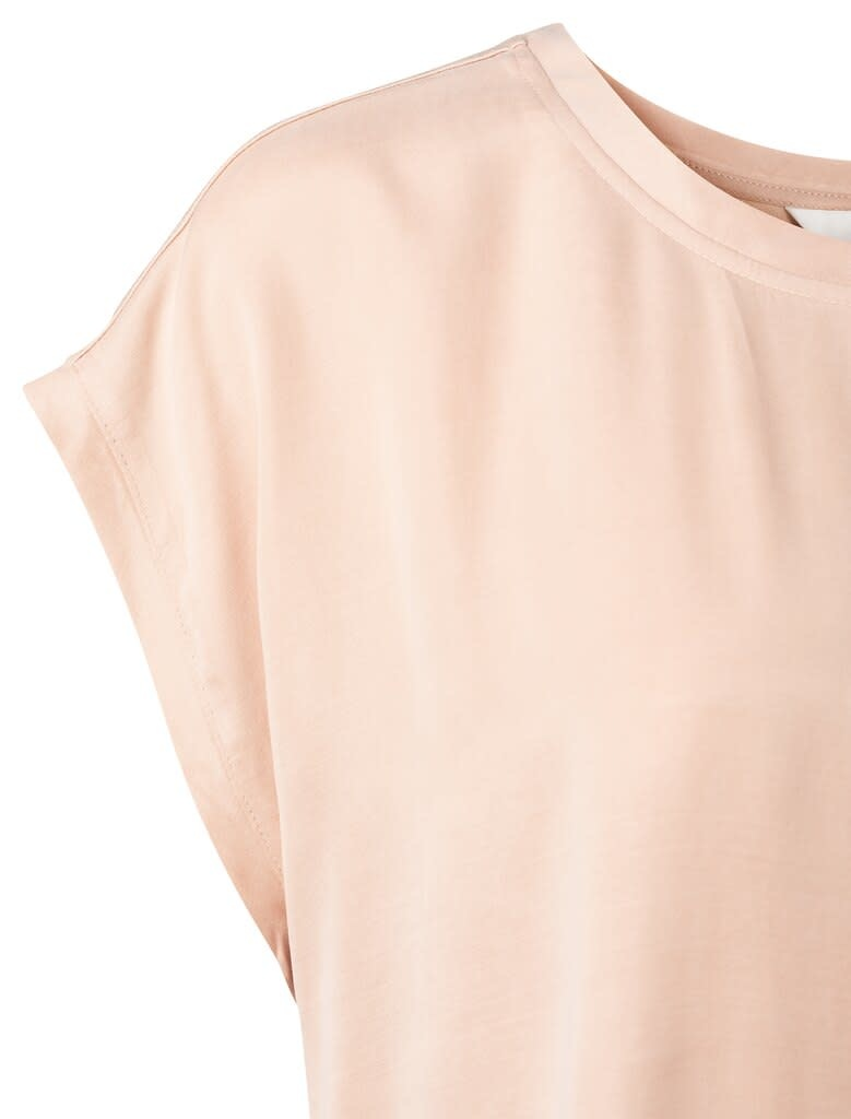 YAYA Women Cupro blend fabric mix top
