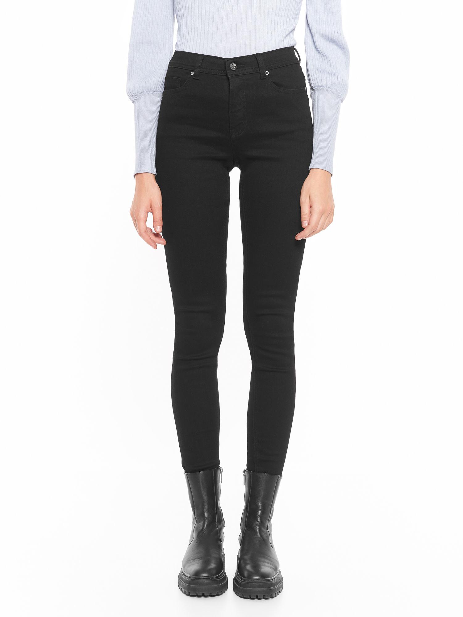 Soft Rebels Mid Rise Slim Jeans - Black - 807
