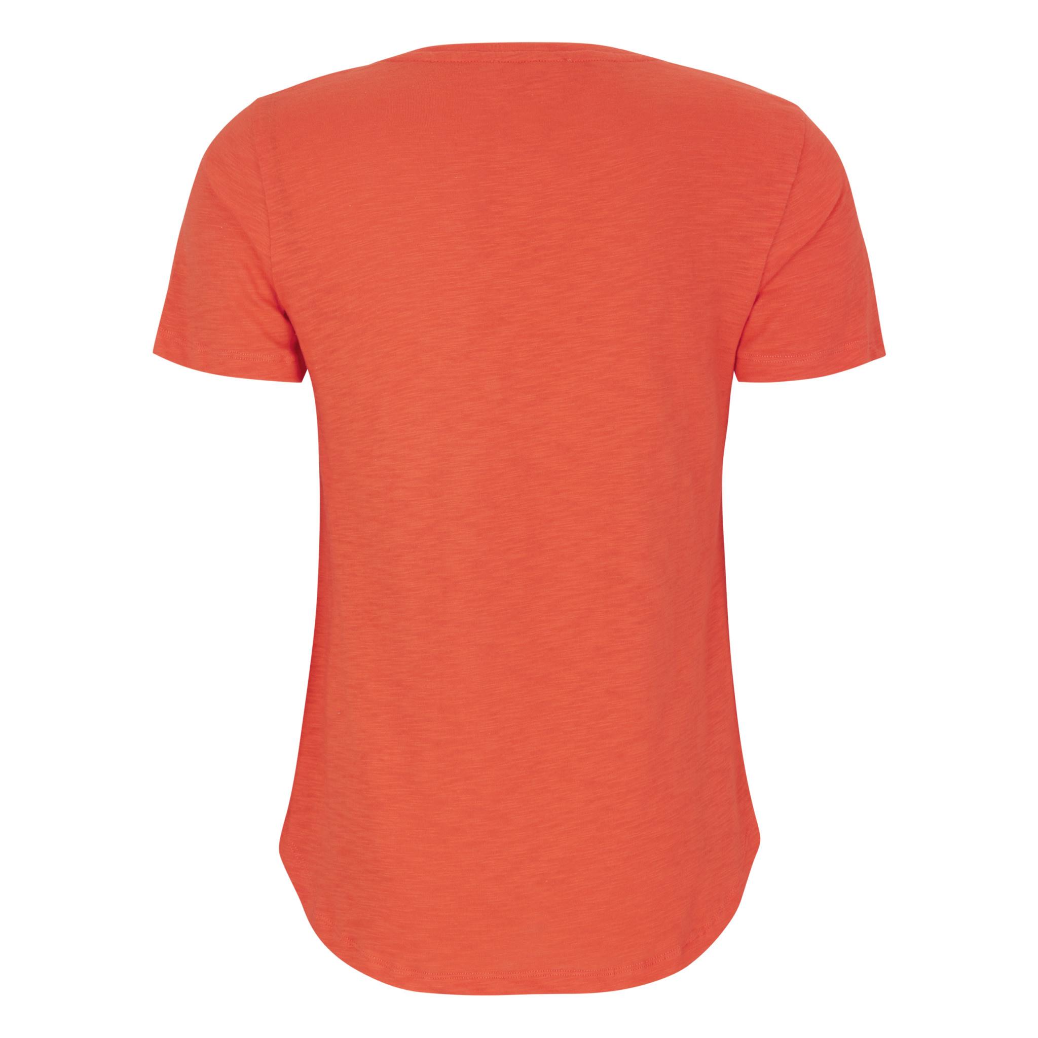 Soft Rebels Emma T-shirt - Rood/oranje