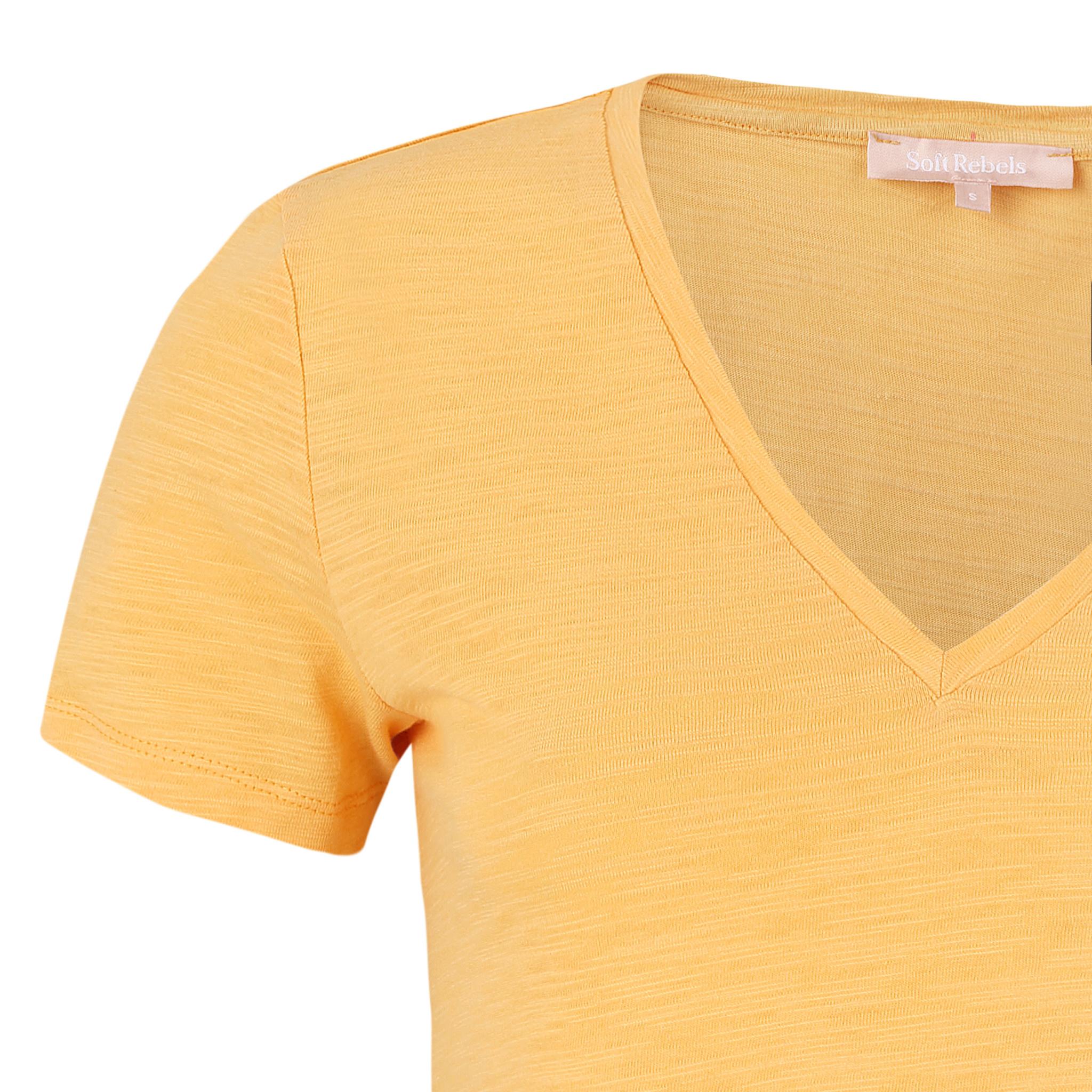 Soft Rebels Emma T-shirt - Geel