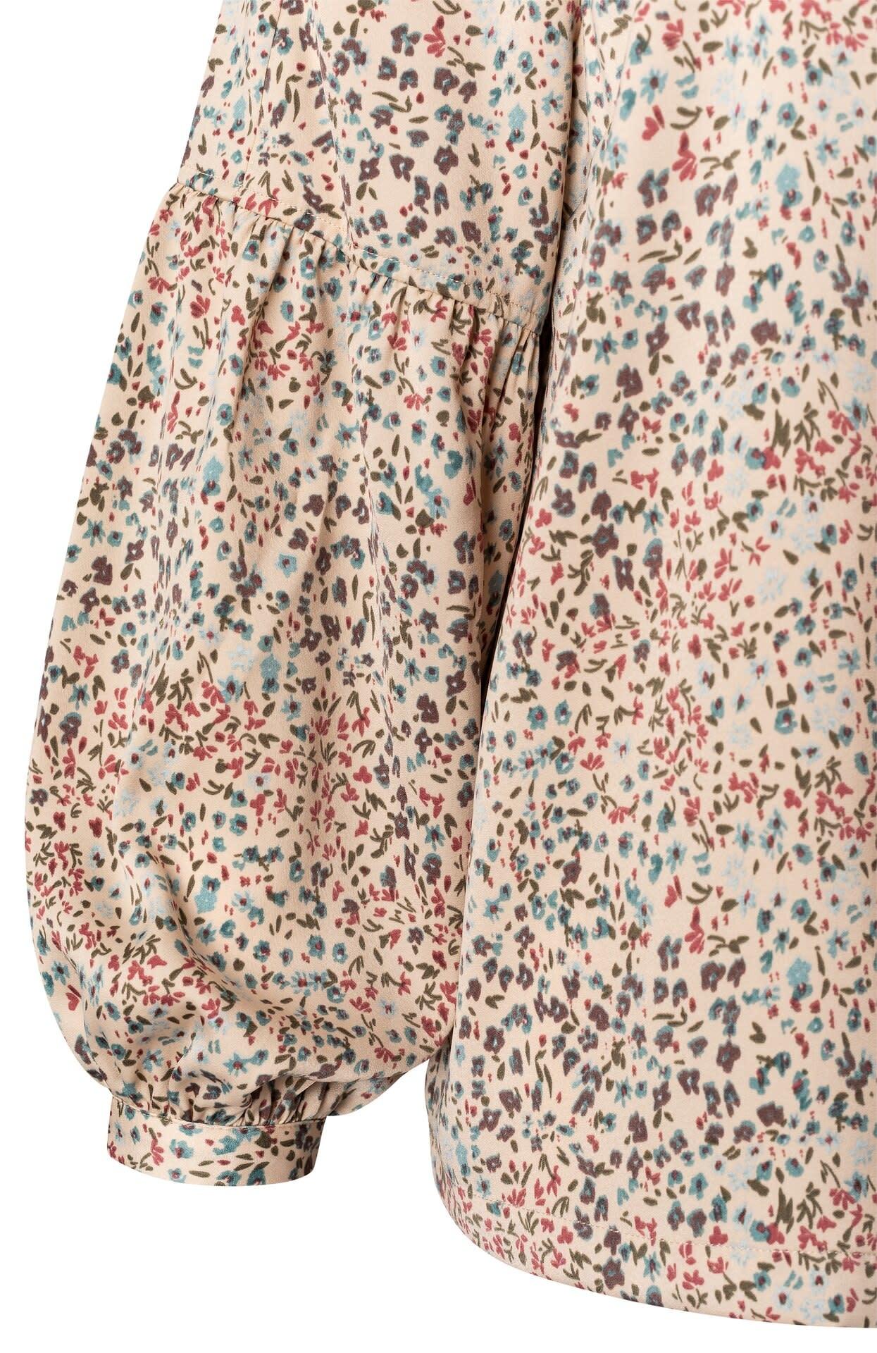 YAYA Women Printed puff sleeve blouse