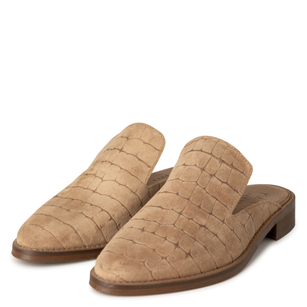 YAYA Women Croco suede slip on loafers