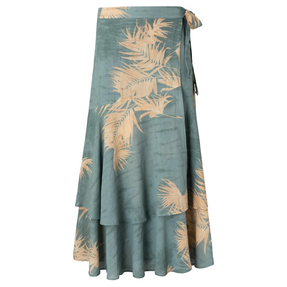 YAYA Women Printed wrap midi skirt