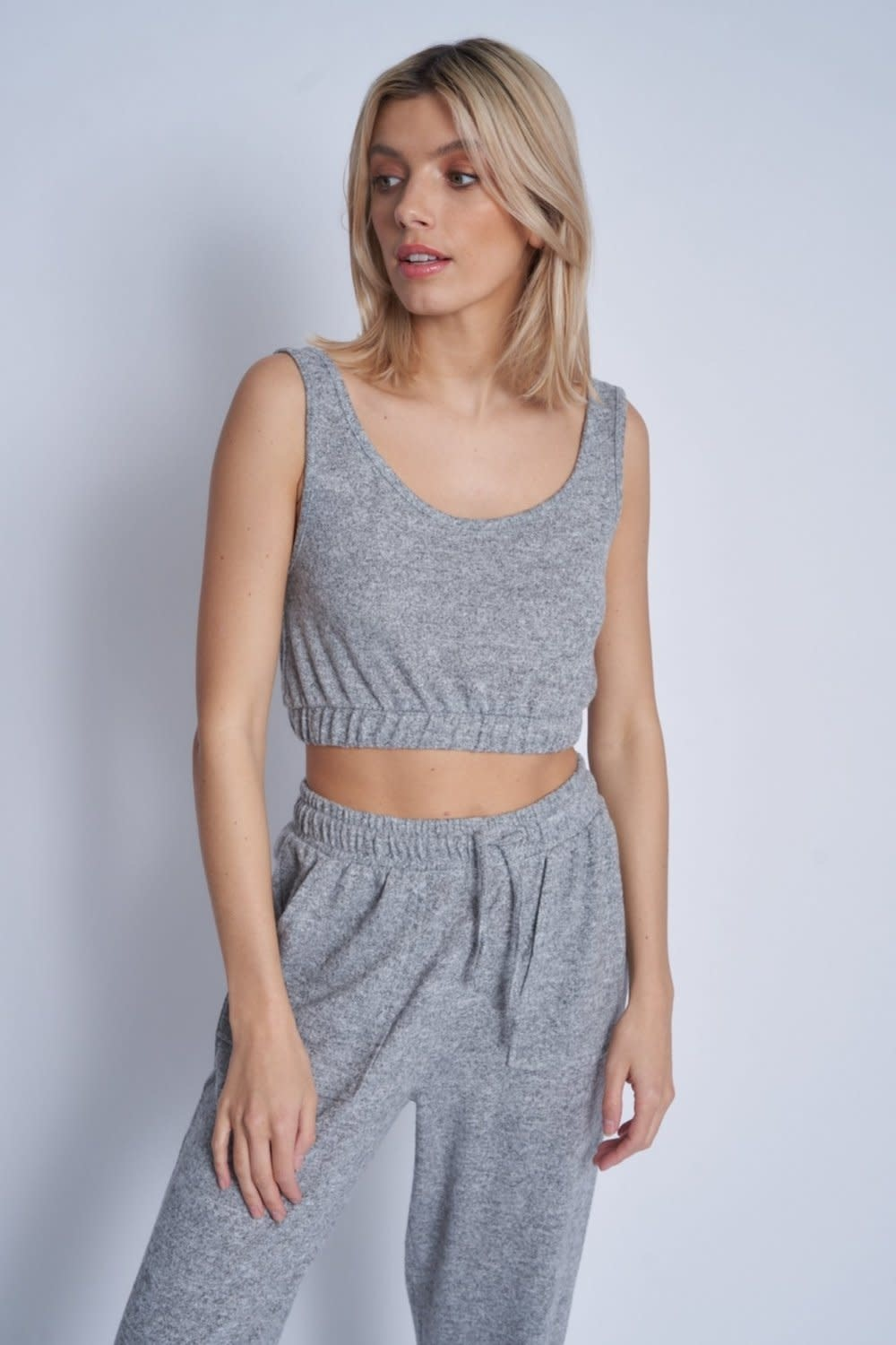 Native Youth Jersey cropped sleeveless top