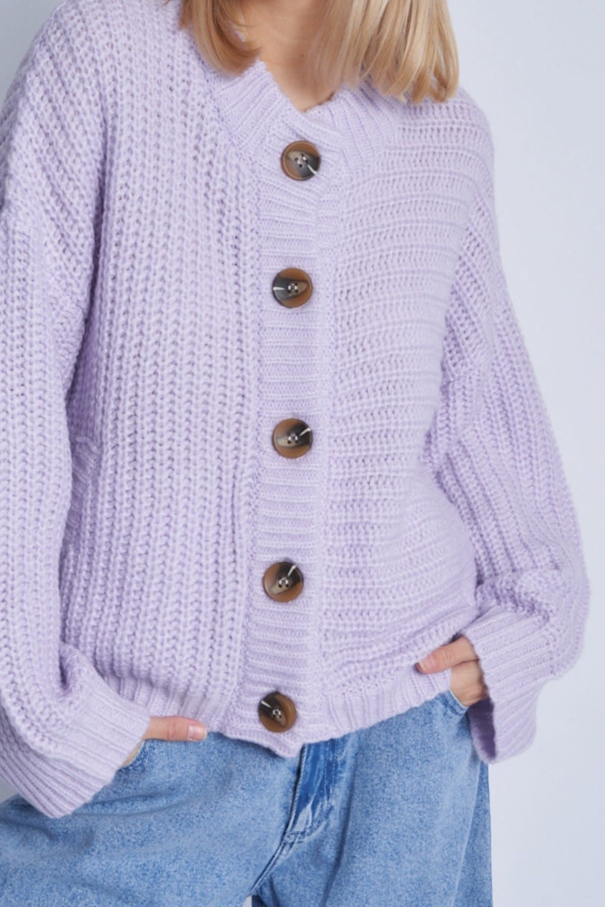 Native Youth Chunky knitted cardigan