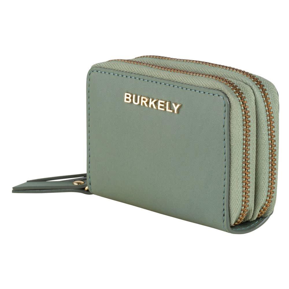Burkely Parisian Paige - Wallet 2zip - Muntgroen