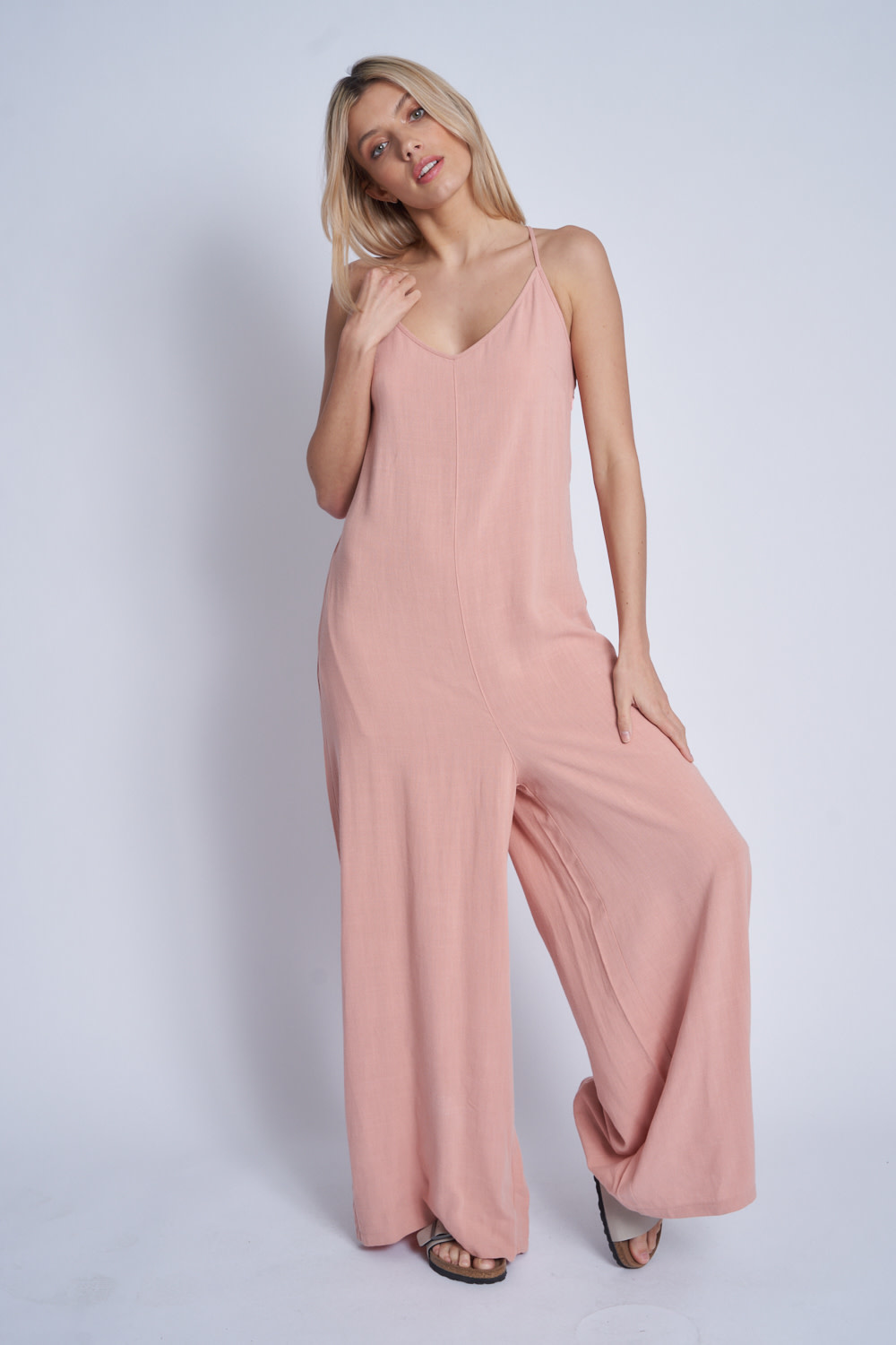 Native Youth Loose fit strappy jumpsuit - Rose