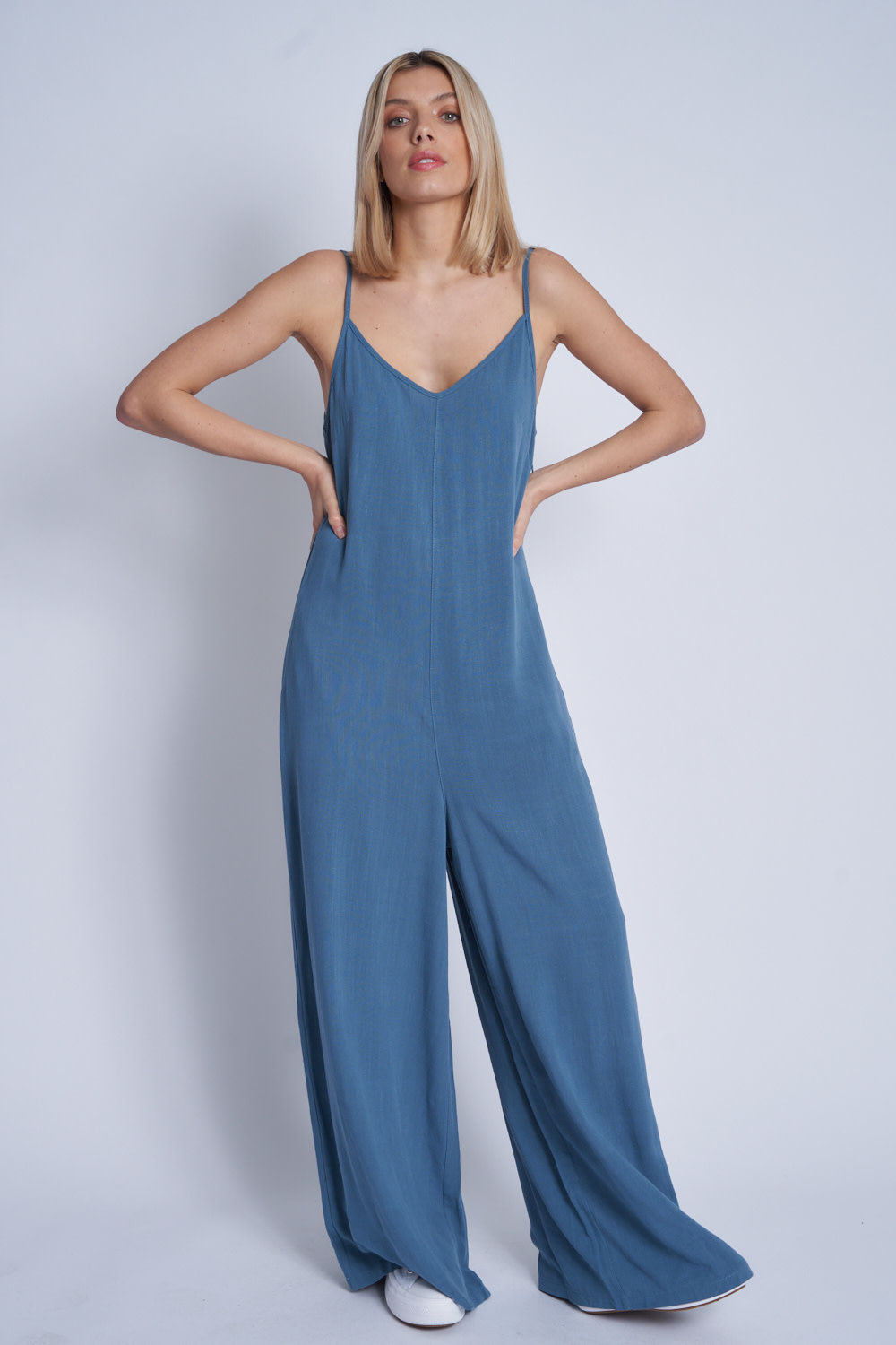Native Youth Loose fit strappy jumpsuit - Petrol