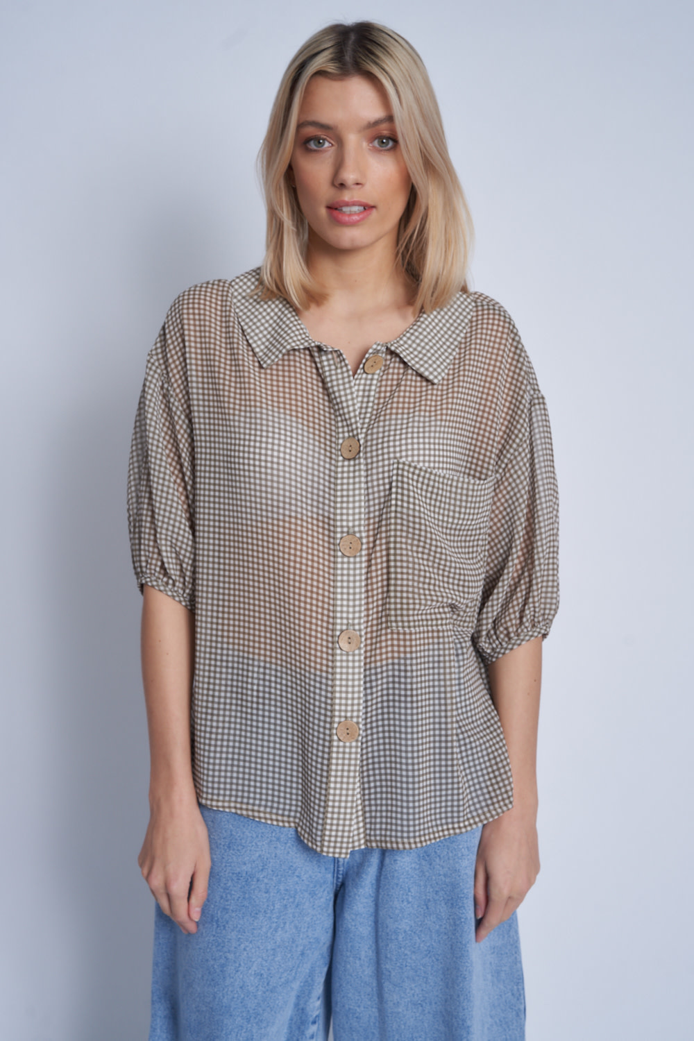 Native Youth Oversized button down blouse