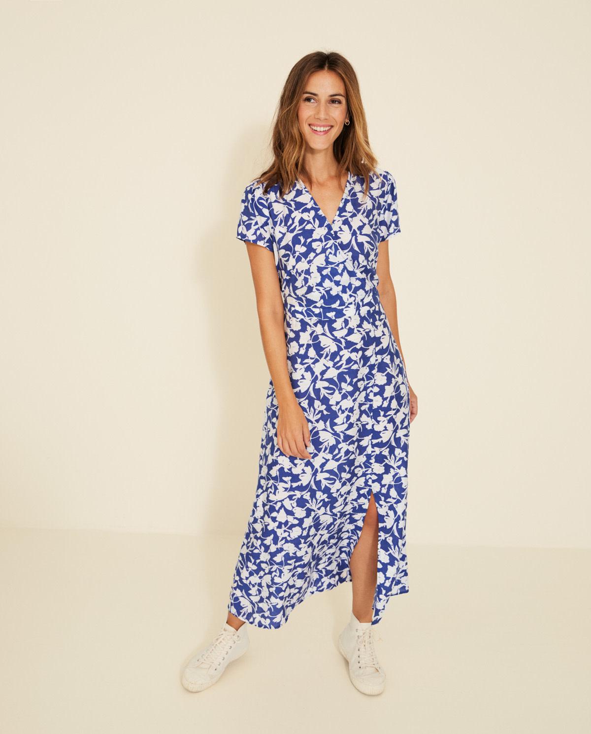 Yerse Long print dress