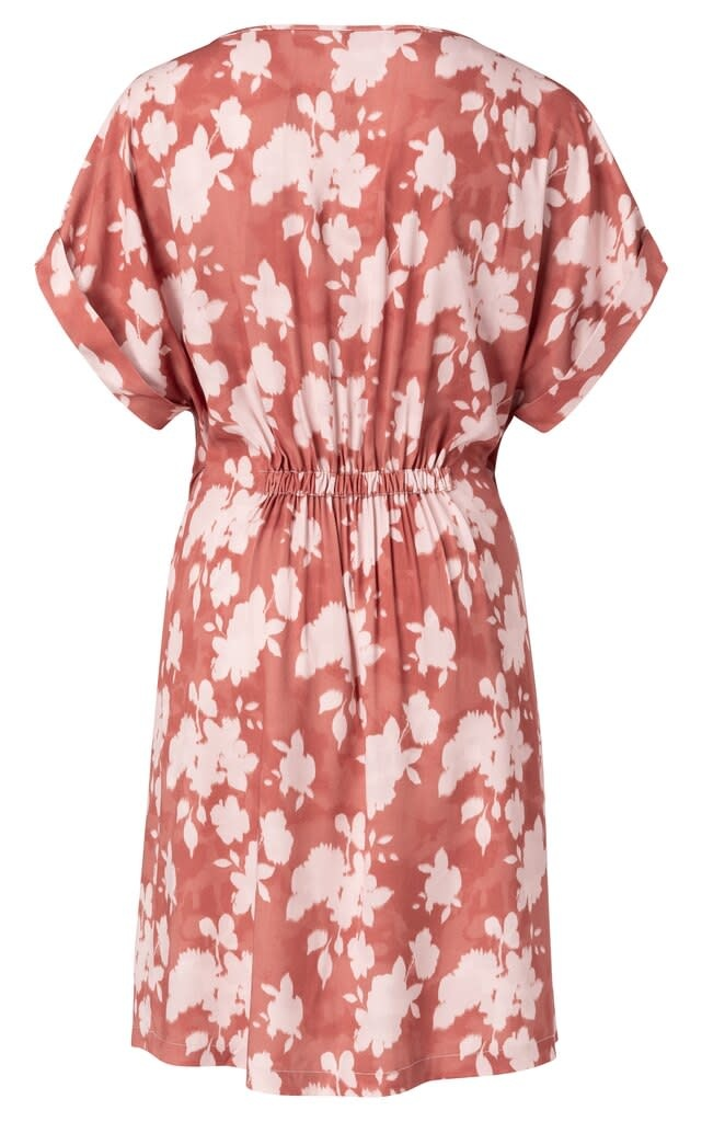 YAYA Women Woven belted dress with floral print - rood