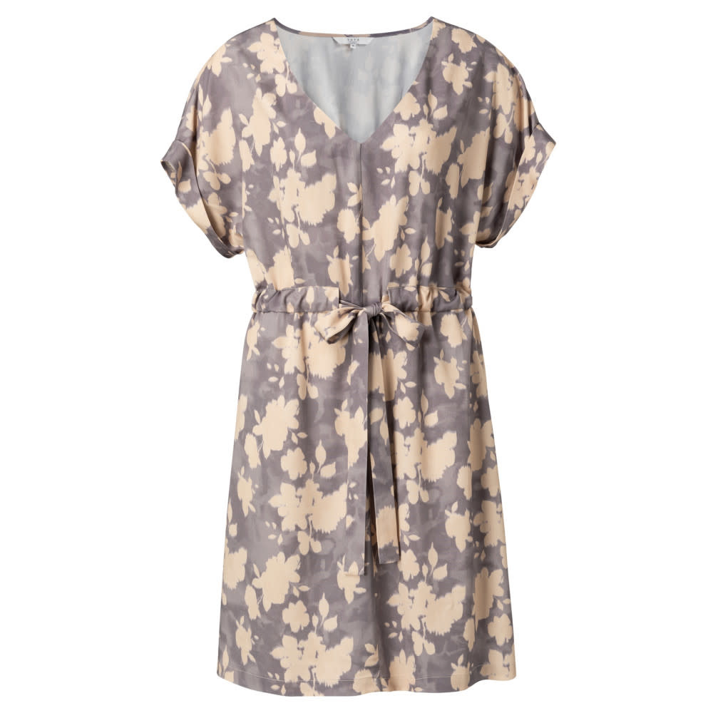 YAYA Women Woven belted dress with floral print - Lila