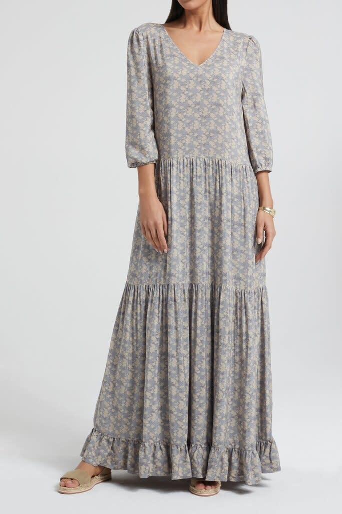 YAYA Women Maxi dress with floral print and ruffles