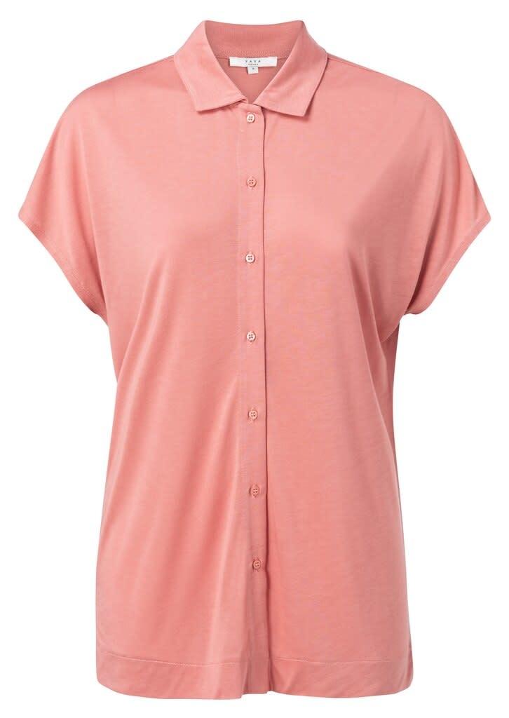 YAYA Women Modal silk blend shirt with short sleeves