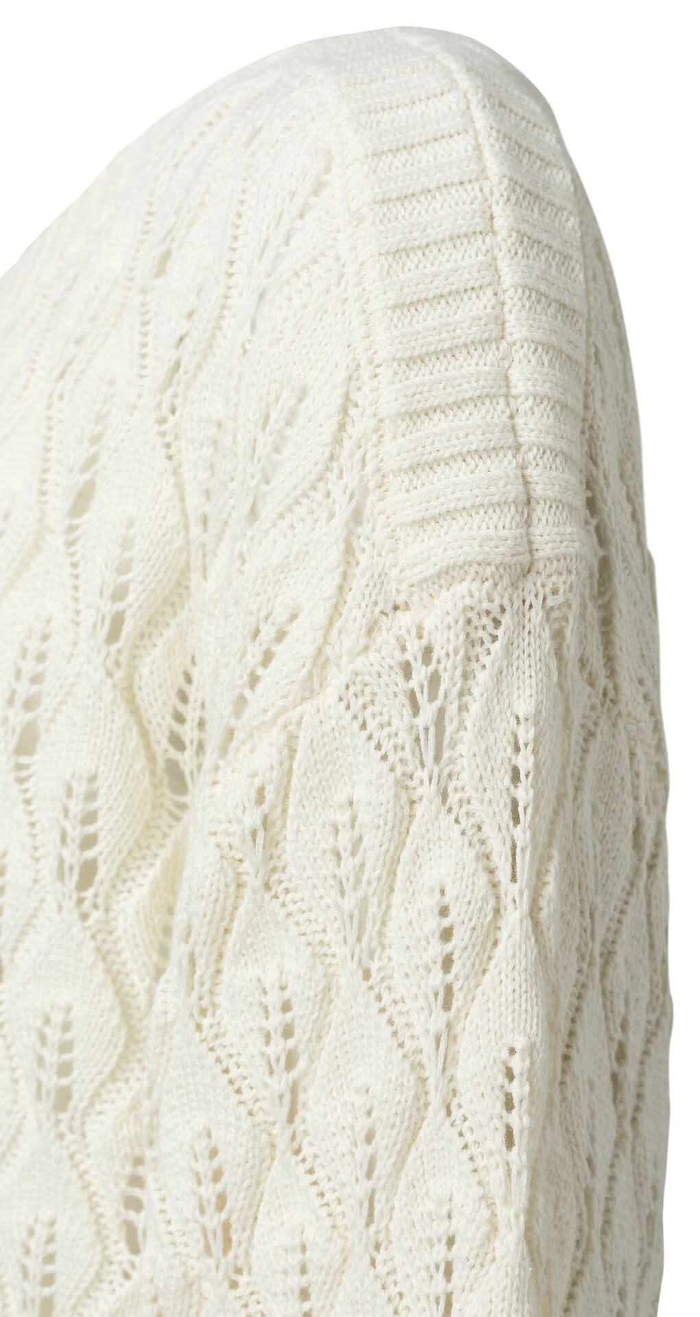 YAYA Women Pointelle stitch sweater