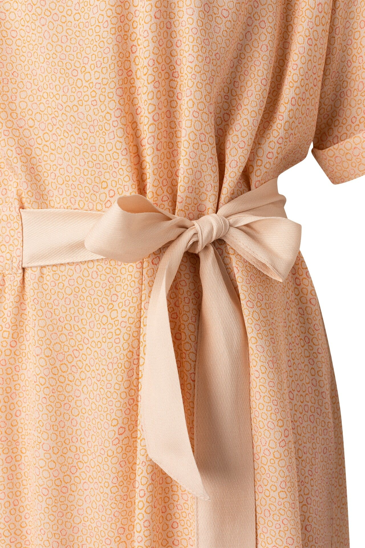 YAYA Women Printed midi dress with belt
