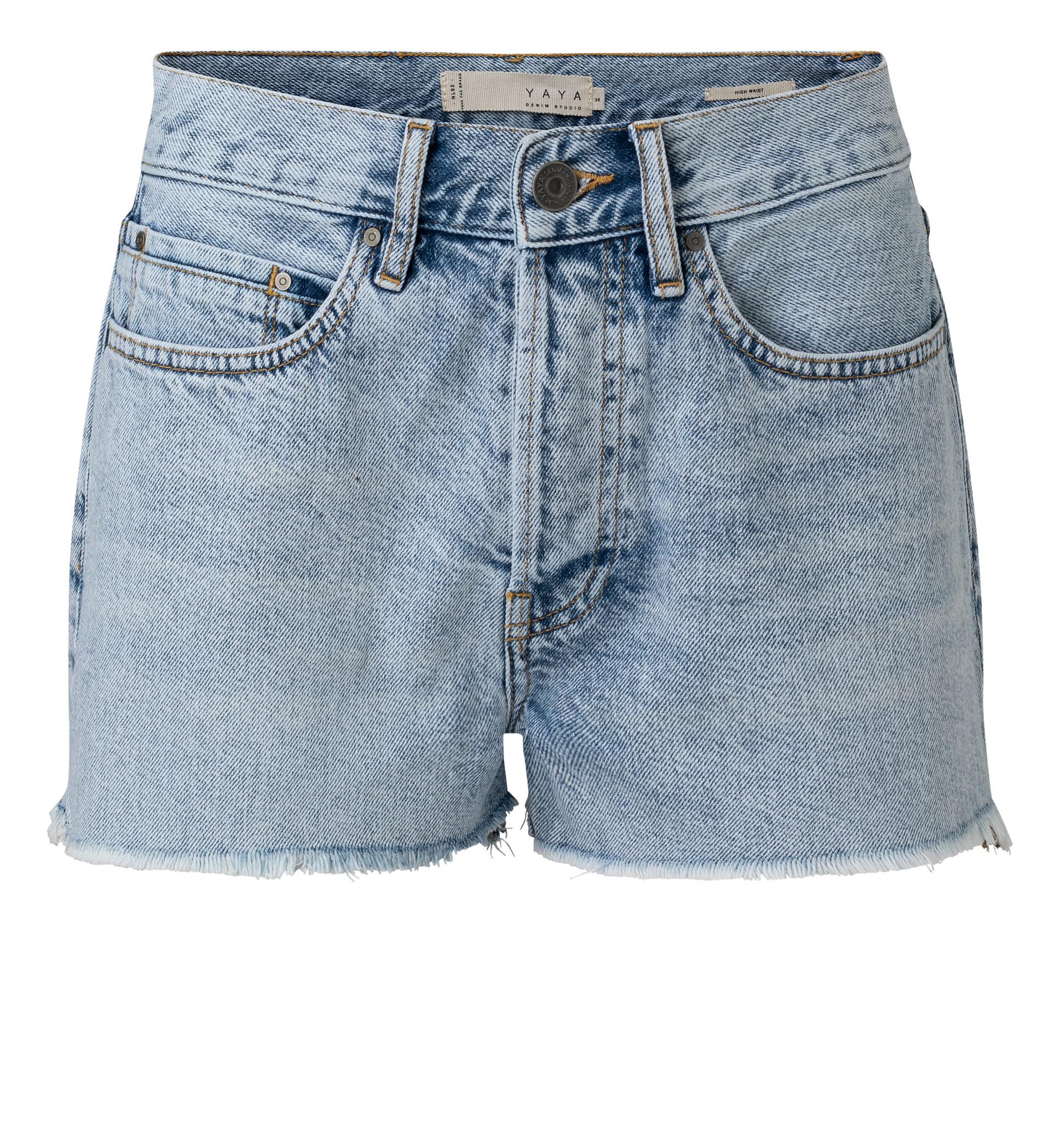 YAYA Women Cotton high waist denim short