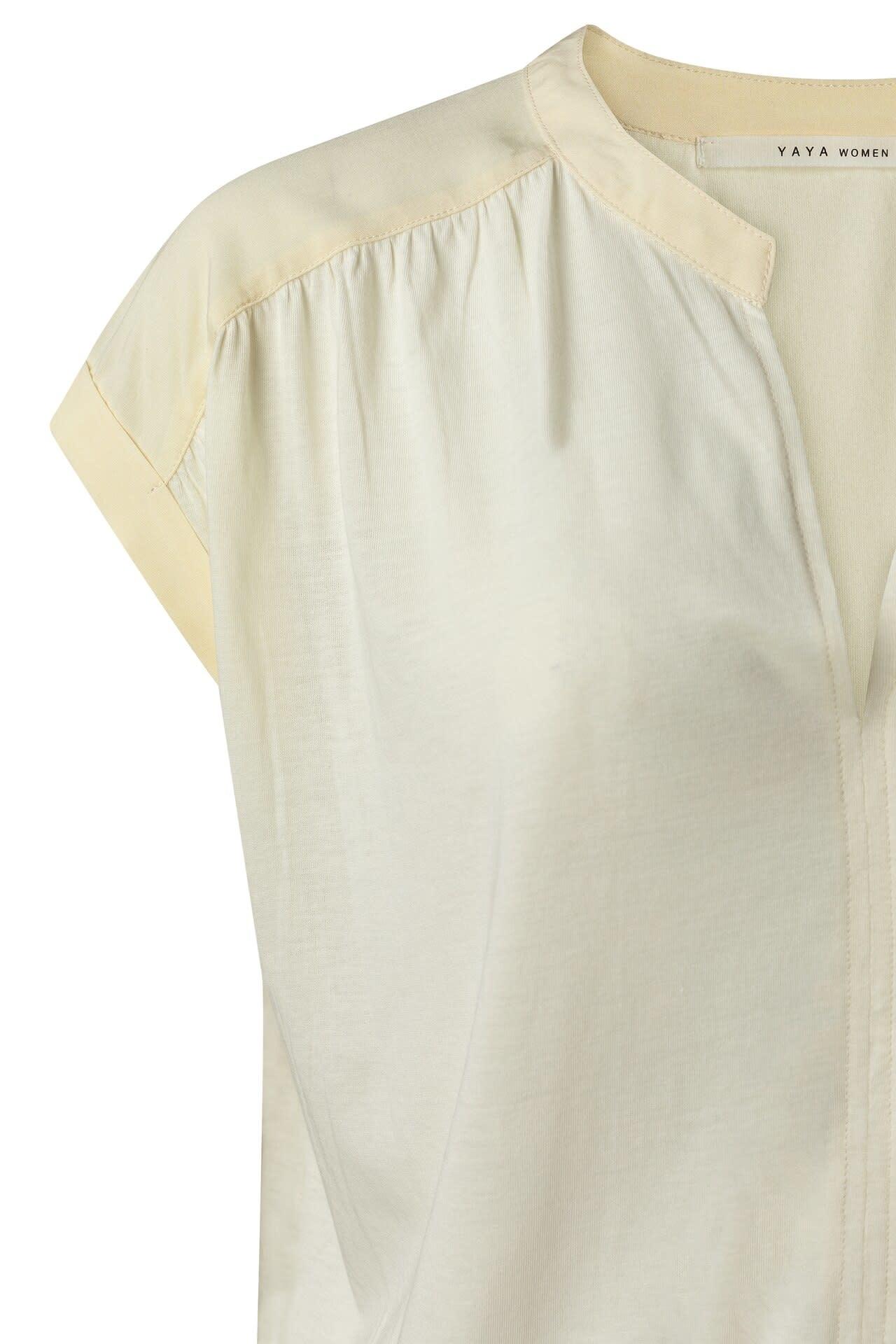 YAYA Women Fabric mix top