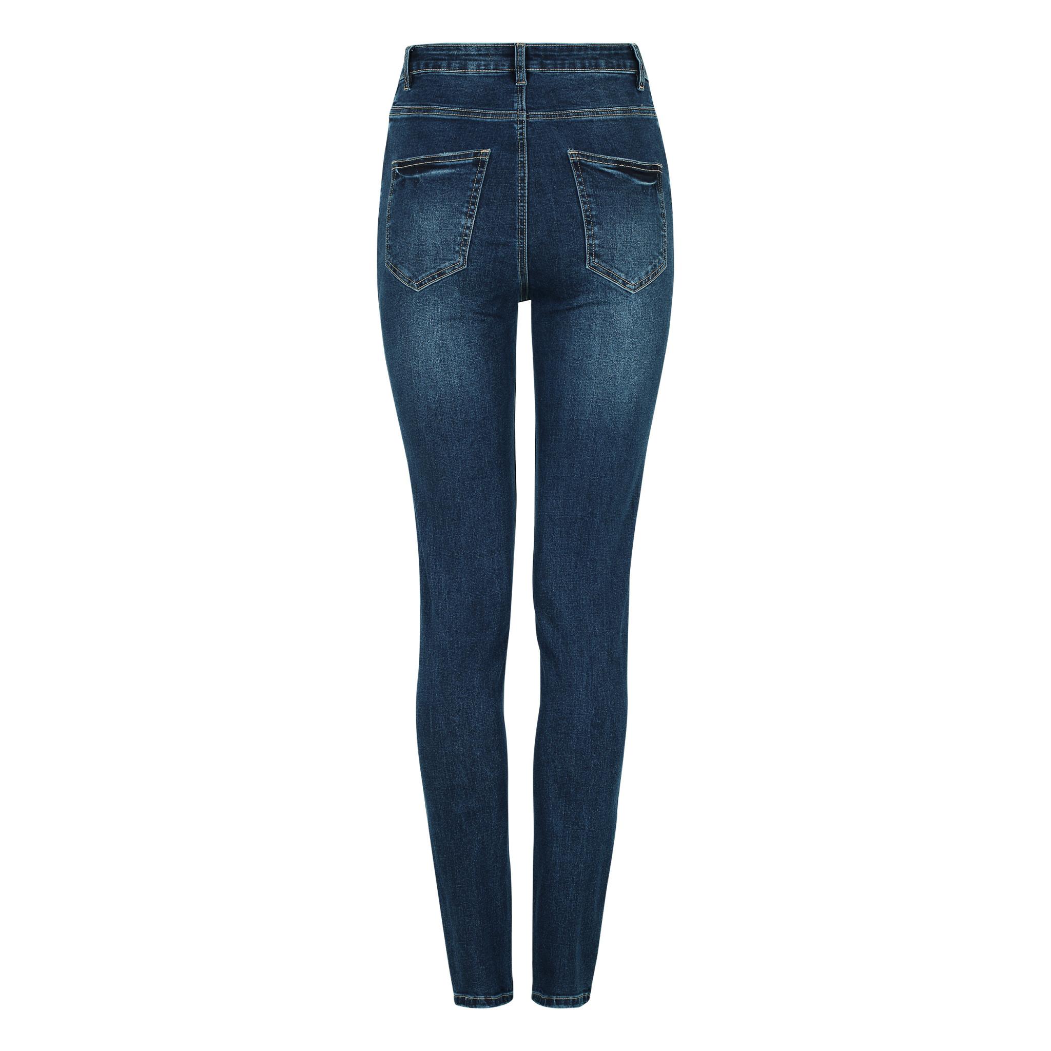 Soft Rebels Highwaist Slim Jeans - Dark Blue Wash - 805