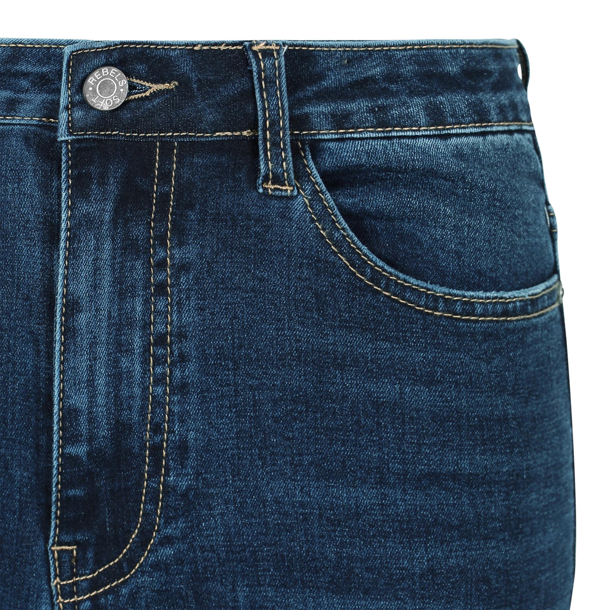 Soft Rebels Highwaist slim jeans - Donkerblauw