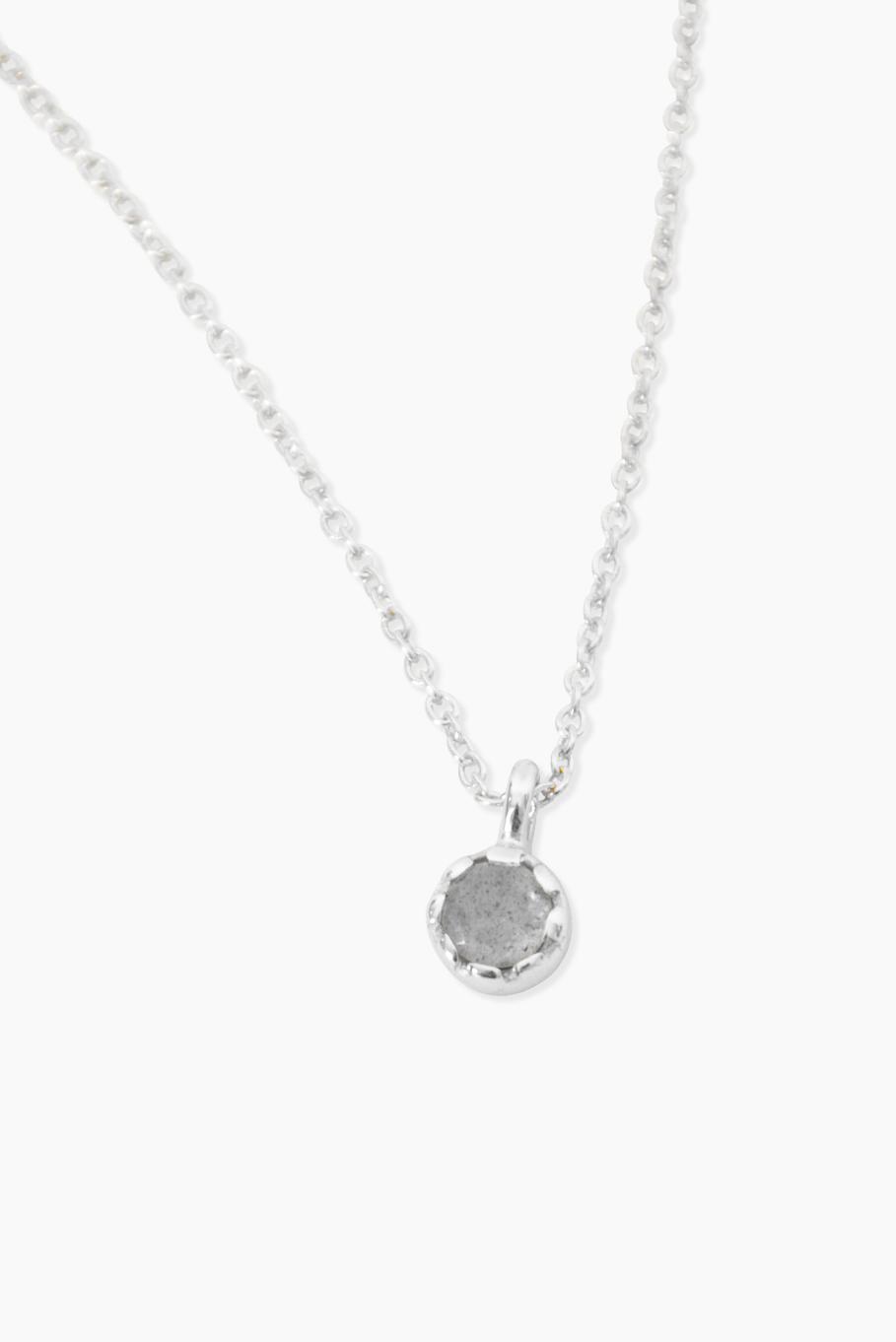 Détail Geboortesteen - Ketting - Labradoriet - Zilver (Boogschutter)
