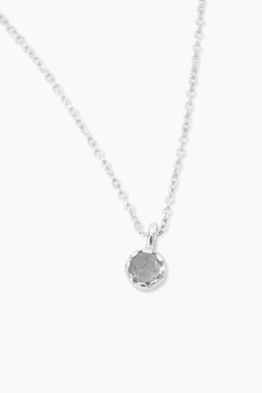 Détail Geboortesteen - Ketting - Labradoriet - Zilver