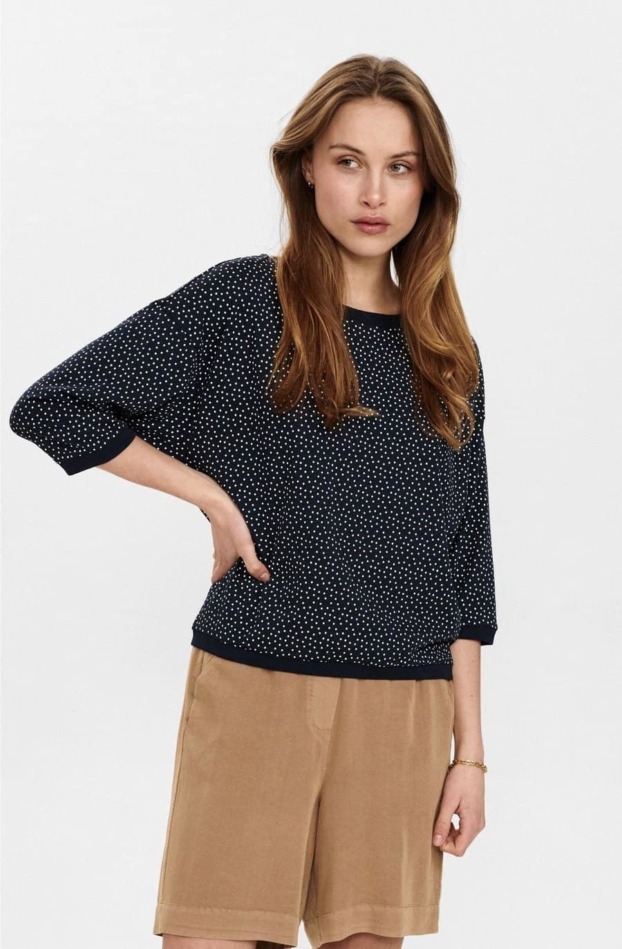 Nümph Brighed blouse - donkerblauw