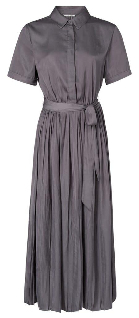 YAYA Women Maxi short sleeve dress with plissé