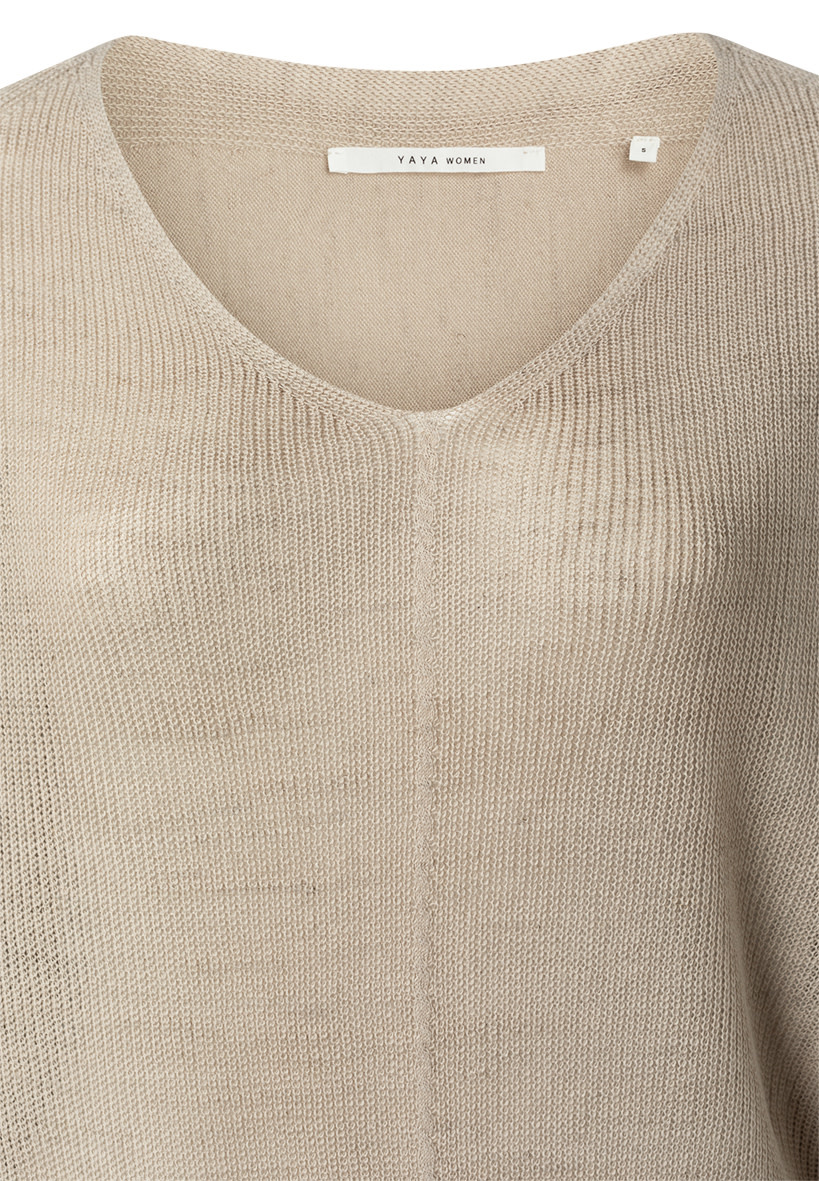 YAYA Women Batwing V-neck sweater ls