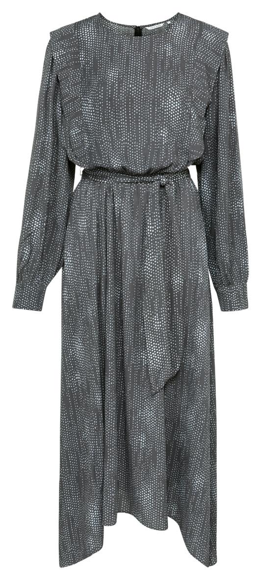 YAYA Women Printed maxi dress with puff sleeves in viscose